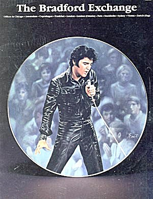 Elvis On Cover Of The Bradford Exchange Catalogue