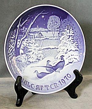 Bing & Grondahl Pheasents Christmas Plate (Image1)