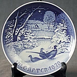 Royal Copenhagen Pheasents Christmas Plate 1970 (Image1)