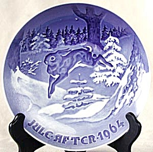 "Bing and Grondahl ""Fir Tree and Hare"" Plate (Image1)"