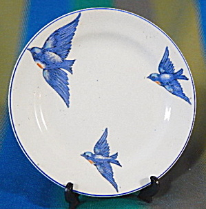 Vintage 3 Large Bluebirds Plate