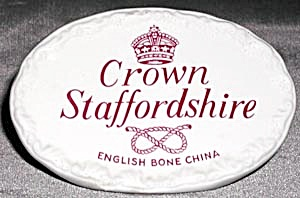 Vintage Crown Staffordshire Sign (Image1)