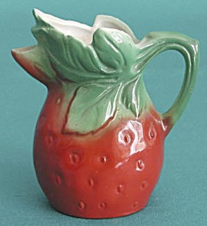 Vintage German Strawberry Creamer (Image1)