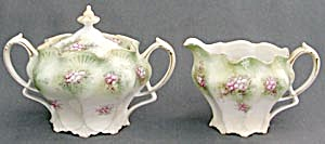 Antique Creamer & Sugar
