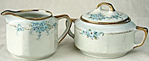 Vintage Forget-me-not Creamer & Sugar