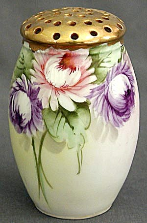 Vintage China Hand Painted Sugar Shaker or Muffineer (Image1)