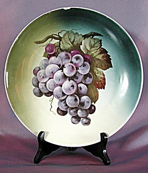 Antique Large German Hand Painted Grape Plate (Image1)