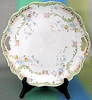 Antique Tea Plate with Forget-Me-Nots (Image1)