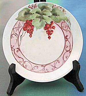 Vintage Red Currents Hand Painted Signed Plate (Image1)
