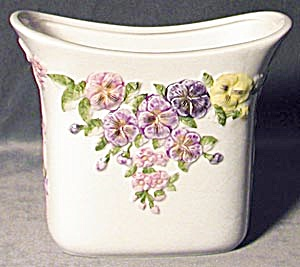 Embossed Pansies China Vase (Image1)