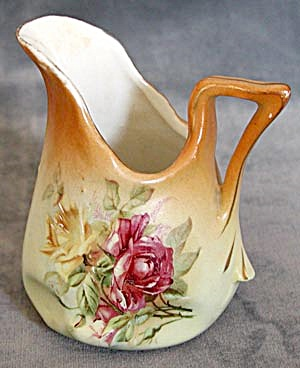 Antique Pinched Base Yellow Rose Pitcher (Image1)