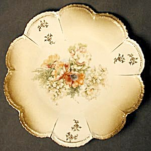 Antique Poppy Plate Scalloped Edge (Image1)