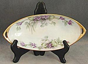 Vintage Hand Painted & Signed Violet Dish (Image1)