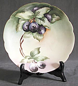 Antique P. L. Limoge France Plum Plate (Image1)