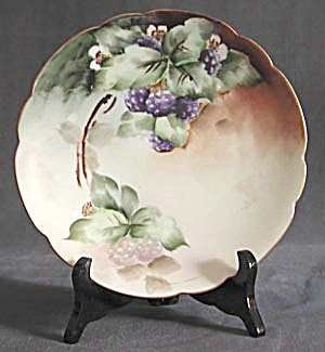 Antique P. L. Limoge France Black Raspberry Plate (Image1)