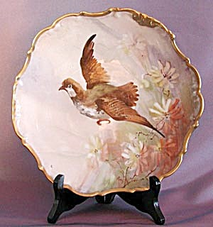 Limoges Partridge Hand Painted & Signed Plate