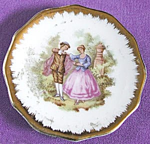 Vintage Limoges Small Doll Plate with a Man & Women (Image1)
