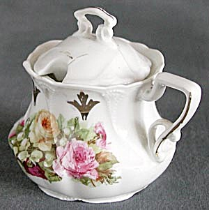 Antique Flower Mustard Pot (Image1)