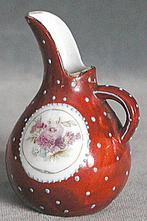 Vintage Small China Hand Painted Pitcher