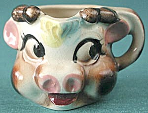 Vintage Miniature Cow Head Creamer (Image1)