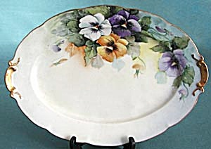 Vintage Austrian Hand Painted Pansy Plater