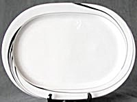 Vintage Block China White Pearl Platter (Image1)