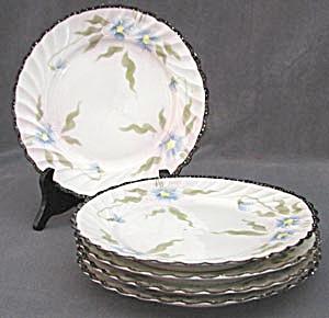 Vintage Nippon Blue Flower Cake Plates (Image1)