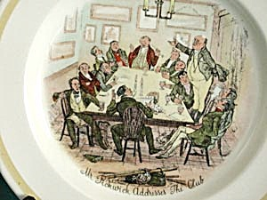 Vintage Wood & Sons Dickens Plates Different Scenes