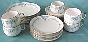 Vintage Hand Painted Forget Me Not Tea Set