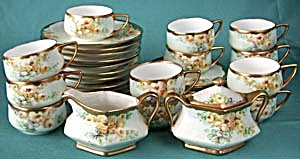 Vintage Hand Painted Yellow Rose Tea Set