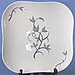 "Weil Ware Blue ""Fantasia"" Plate (Image1)"