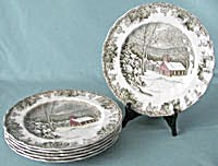 Friendly Village Dinner Plates School House (Image1)