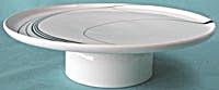 Vintage Block China White Pearl Pedestal Cake Plate (Image1)