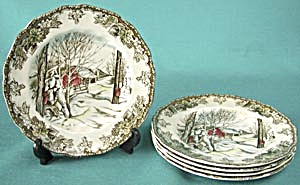 Friendly Village Bread Plates Set Of 5