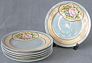 Vintage Luster Plates & Sugar (Image1)