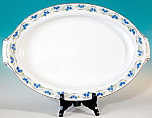 Narumi Blue Button Large Platter