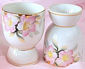 Vintage Noritake Azalea Egg Cup Set Of 8