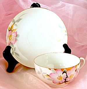 Vintage Noritake Azalea Cup & Saucer Set Of 02