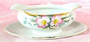 Vintage Noritake Azalea Gravy Boat With Under-plate