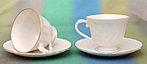 Syracuse Gold Rim China Cup And Saucer Pair