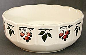 Vintage German China Bowl with Cherries (Image1)