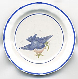 Vintage Bluebird Butter Pat (Image1)