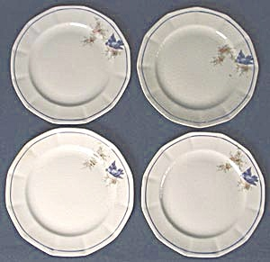 Vintage Bluebird Bread & Butter Plates Set of 6 (Image1)