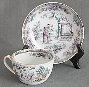 Vintage Bates Walker and Company Cup and Saucer (Image1)