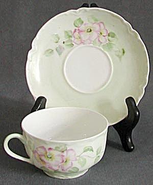 Vintage Left Handed Haviland Limoges Cup & Saucer (Image1)