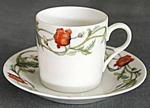 Vintage Poppy Demitasse Cup & Saucer (Image1)