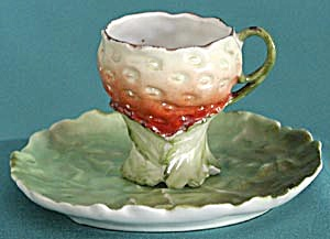 Vintage Royal Bayreuth Strawberry Cup & Saucer