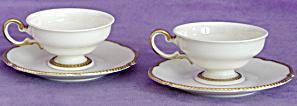 Vintage Castleton Soverign China Cup And Saucer Pair