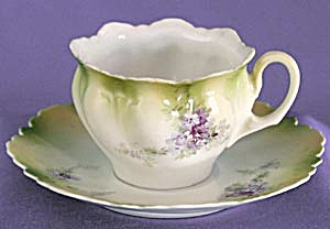 Vintage R S Germany Cup & Saucer With Lilacs