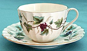 Royal Worcester Bacchanal Cup & Saucer (Image1)